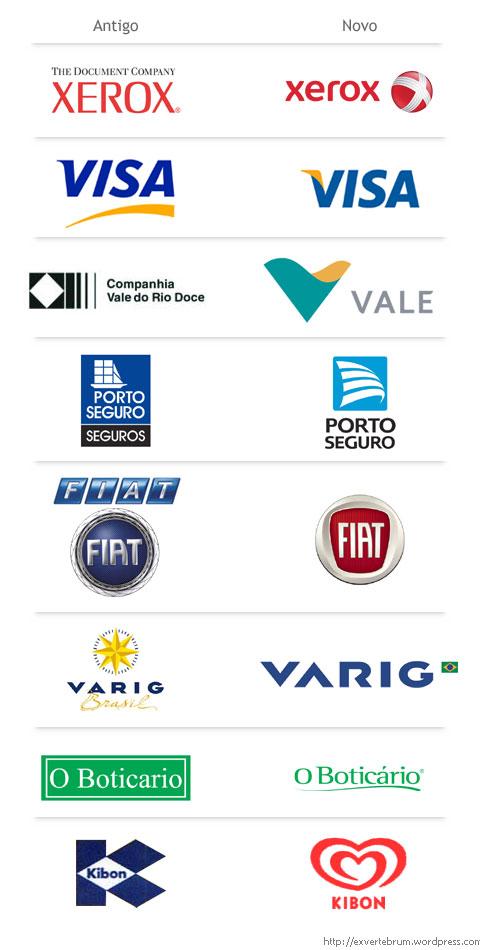Logotipos novos eantigos