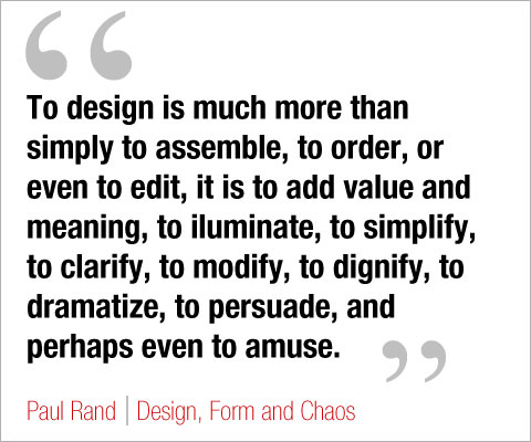 to design, by paul rand